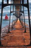 walkway för stör för ship för fjärdkanalfyr Royaltyfria Foton