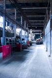 Walkway in factory Royalty Free Stock Images