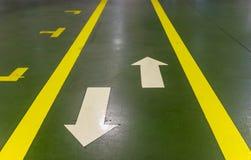 Walkway in factory Stock Photo