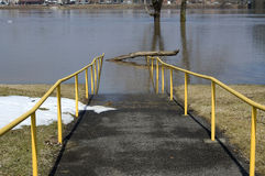 Walkway flooded Stock Photos