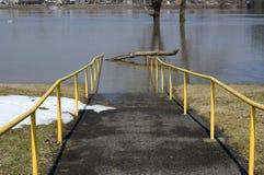 Walkway flooded Stock Photos