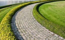 Walkway In Garden. Location; Walkway In Garden, ayutthaya, thailand Stock Images