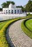 Walkway In Garden. Location; Walkway In Garden, ayutthaya, thailand Royalty Free Stock Photography