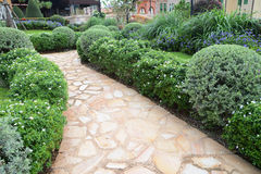 Walkway in garden Stock Photography