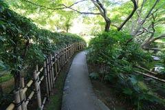 Walkway in garden Stock Photo