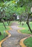 Walkway in the garden. Mini Walkway in the garden Stock Photos