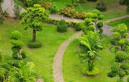 Walkway garden in public park Stock Photos