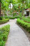 Walkway in garden Royalty Free Stock Photo