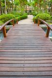 Walkway in garden Stock Photo