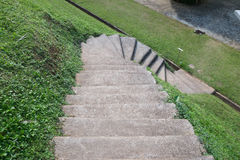 Walkway, Go down , Slope path stock photos