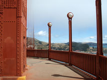 Walkway on the Golden Gate Bridge Marin side Stock Photos