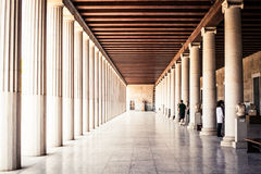 Walkway in a Greek Museum Stock Photo