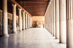 Walkway in a Greek Museum Royalty Free Stock Image