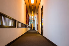 Walkway in guest house in japan Royalty Free Stock Images