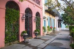 Walkway Through Rainbow Row Charleston South Carolina royalty free stock image
