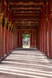 Walkway in Imperial Royal Palace of Nguyen dynasty in  Hue Royalty Free Stock Photo