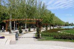 Walkway beside lake Balaton Royalty Free Stock Images