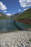 Walkway at Lake MacDonald. Lake MacDonald near St. Ignatius Montana and Ninepipes refuge in Montana Royalty Free Stock Photography