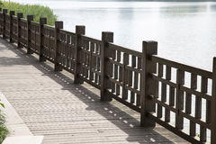 Walkway by the lake Royalty Free Stock Photos