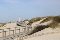 Walkway leading to the beach - Portugal Stock Photo
