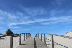 Walkway leading to the beach - Portugal Royalty Free Stock Images