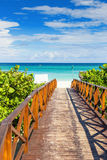 Walkway leading to the beach of Vara Royalty Free Stock Photo