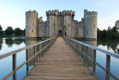 Walkway leading to Bodiam Castle royalty free stock photo