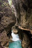 Walkway through the Leutasch Gorge Royalty Free Stock Photo
