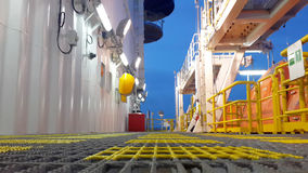 Walkway. Lifeboat offshore drilling life Royalty Free Stock Image
