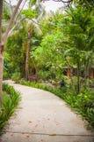 Walkway  at luxury Bali mansion Stock Photo