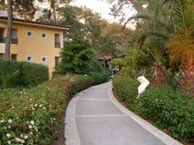 Walkway in hotel resort Stock Photography
