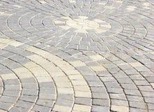 Walkway made of bricks. Brick Texture Path Made of Small Grey Bricks Royalty Free Stock Photos