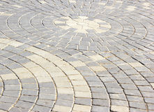 Walkway made of bricks. Royalty Free Stock Photos