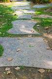 Walkway marble tiles. Walkway textures marble tiles in park Royalty Free Stock Photo