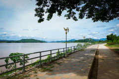 Walkway Mekong River Royalty Free Stock Images