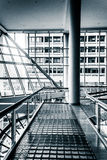Walkway and modern architecture in The Gallery, at the Inner Har Royalty Free Stock Image
