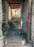 Walkway at a monastery Stock Photo