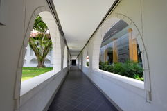 Walkway in National University of Singapore Royalty Free Stock Photo