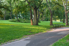 Walkway in the New-York Central Park. Walkway in the Central Park of the city of the New-York Royalty Free Stock Image