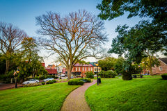 Walkway outside the Maryland State House, in Annapolis, Maryland Royalty Free Stock Photo