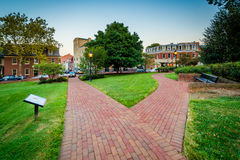 Walkway outside the Maryland State House, in Annapolis, Maryland royalty free stock photography