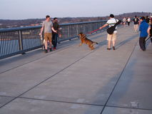 Walkway over Hudson Poughkeepsie NY Stock Images