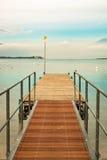 Walkway over the Lake Garda, Italy. Stock Photos