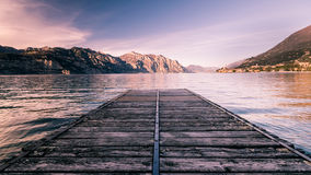 Walkway over the Lake Garda, Italy. Royalty Free Stock Photo