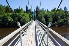 Walkway over river in Sigulda Royalty Free Stock Photo