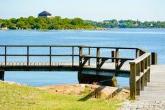 Walkway over water Royalty Free Stock Image