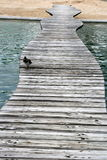 Walkway over water Royalty Free Stock Images
