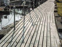 Walkway på Coldwater laken Arkivbilder