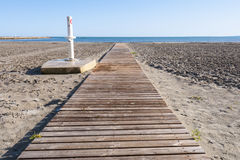 Walkway på Coldwater laken Royaltyfri Bild