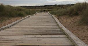 Walkway på Coldwater laken Fotografering för Bildbyråer